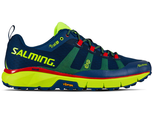 Salming Trail 5 Shoes Herre poseidon blue/safety yellow
